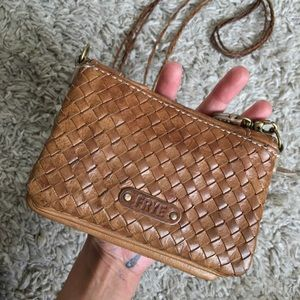 Frye small purse brown leather